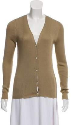 Aquascutum London Silk Button-Up Cardigan