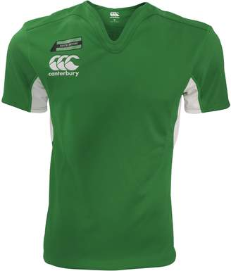 Canterbury of New Zealand Mens Challenge Short Sleeve Rugby Jersey Top (XL) (Forest/White)