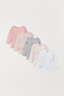 H&M 5-pack Jersey Shirts - Pink