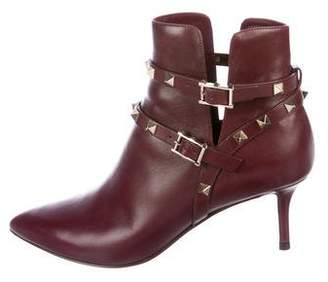 Valentino Rockstud Pointed-Toe Ankle Boots