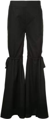 Teija bow detail flared trousers