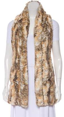 Alice + Olivia Faux Fur Long-Line Vest