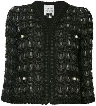 Edward Achour Paris pearl detail jacket