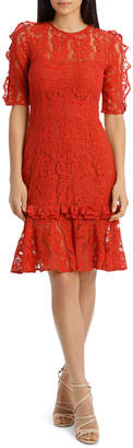 Cooper St Hushed Dove Short Sleeve Lace Dress