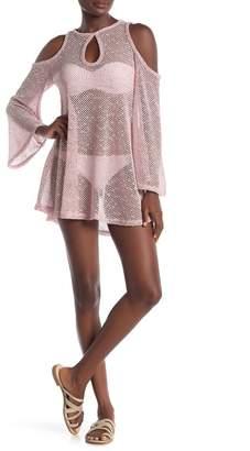 Jordan Taylor Keyhole Cold Shoulder Crochet Cover-Up Dress