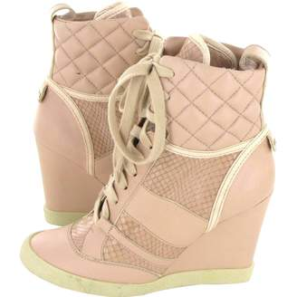 Chloé Pink Leather Ankle boots