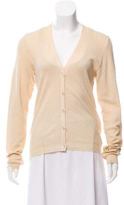 Calvin Klein Collection Knit Long Sleeve Cardigan