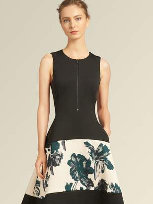 DKNY A-Line Dress With Floral Skirt