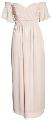 TFNC Freida Off the Shoulder Maxi Dress