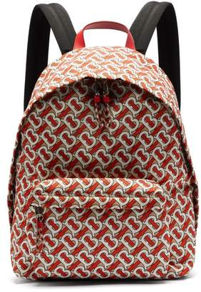 Burberry Tb Monogram Technical Twill Backpack - Mens - Red Multi