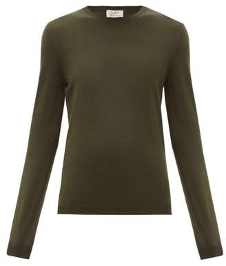 Giuliva Heritage Collection The Esthia Virgin Wool Sweater - Womens - Dark Green