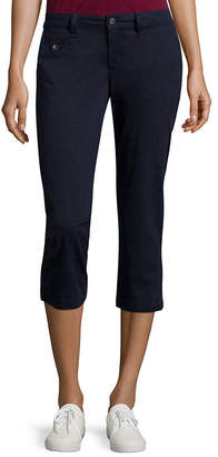 Arizona Schoolgirl Skinny Cropped Pants-Juniors