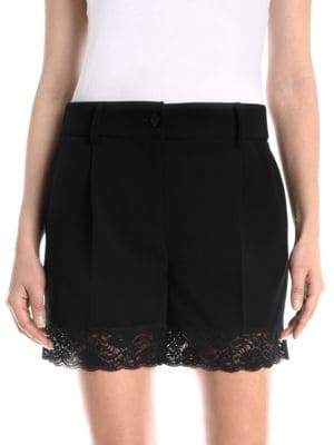 Moschino Lace-Trim Shorts