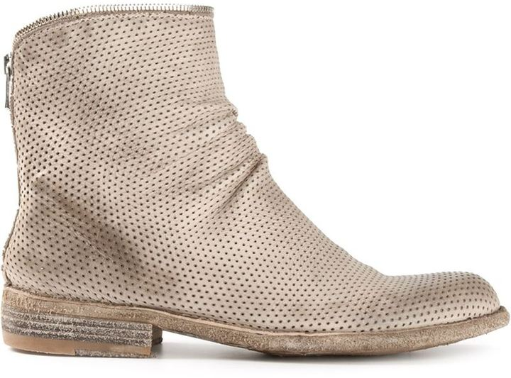 Officine Creative perforated ankle boots