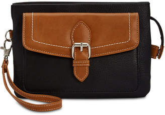 Giani Bernini Leather Triple Zip Convertible Wristlet, Created for Macy's