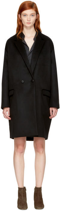 Isabel Marant Black Filipo Coat