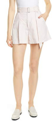 Rebecca Taylor Flared Cotton & Linen Shorts