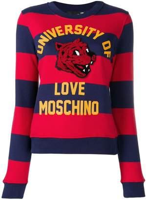 Love Moschino striped sweatshirt