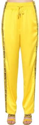 Off-White Logo Band Satin Pajama Pants