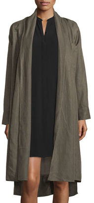 Eileen Fisher Shawl-Collar Open-Front Oversized Jacket $338 thestylecure.com
