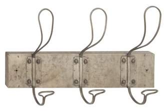 DecMode Decmode Industrial 11 X 18 Inch Gray Metal Wire Rectangular Wall Hook Rack, Gray