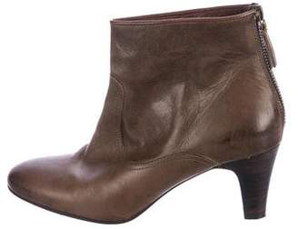 NDC Leather Round-Toe Ankle Boots