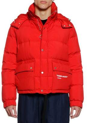 Off-White Men's Quote Puffer Jacket