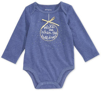 First Impressions Baby Girls Ball Drop Graphic Bodysuit, Created for Macy's
