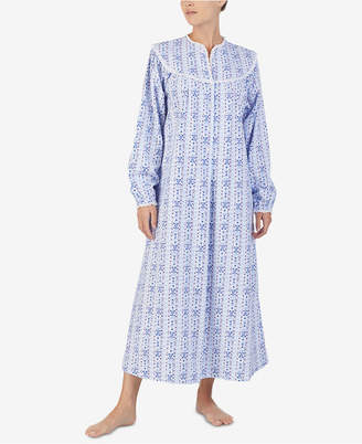 Lanz Of Salzburg Lanz Printed Cotton Flannel Ballet-Length Nightgown 52c031be3