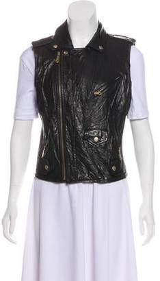Rebecca Minkoff Leather Zip-Up Vest