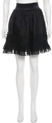 Elizabeth and James Tiered Knee-Length Skirt