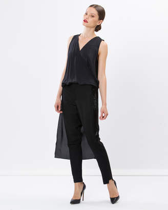 BRIGITTE Silk Wrap Top