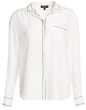 Rag & Bone Women's Anika Silk PJ Shirt