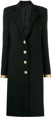 Paco Rabanne gold-tone trim coat