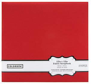 """Nobrand NO BRAND Colorbok Fabric Album 12"""" x 12"""" - Red"""