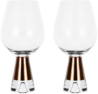 Set Of 2 Tank Wine Glasses