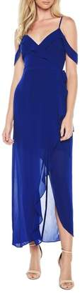 Bardot Lalia Asymmetrical Cold Shoulder Gown
