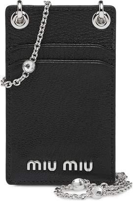 Miu Miu Madras leather mini shoulder wallet