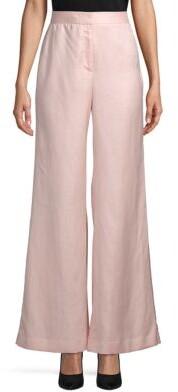 Donna Karan Linen-Blend Wide Trousers