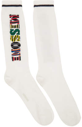 Missoni White Logo Socks