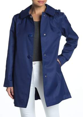 Kate Spade Solid Hooded Rain Coat