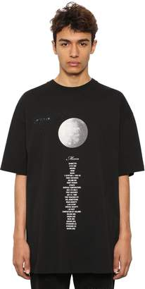 Vetements OVERSIZED PLANET PRINTED COTTON T-SHIRT