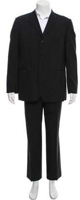 Dries Van Noten Wool Pinstripe Two-Piece Suit navy Wool Pinstripe Two-Piece Suit