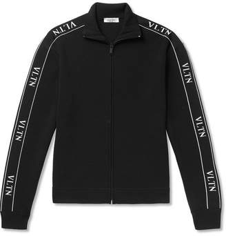 Valentino Logo-Trimmed Tech-Jersey Track Jacket