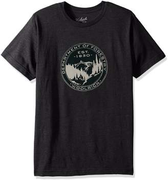 Woolrich Men's Hayes Run Heather Graphic Modern Fit Tee