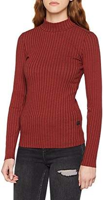 G Star Women's Xinva Slim Funnel T Wmn L/s Long Sleeve Top (Dk Black HTR 7293)