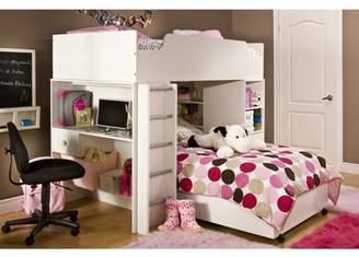 "South Shore Furniture South Shore Logik Twin Loft Bed (39""), White"