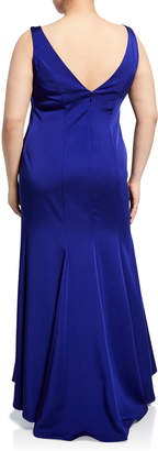 Marina Plus Size High-Low Mermaid Gown