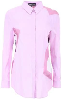 Salvatore Ferragamo Cotton And Silk Shirt