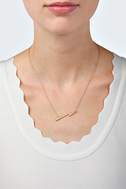 Jennifer Zeuner Jewelry Sandra-H Necklace in Yellow Vermeil